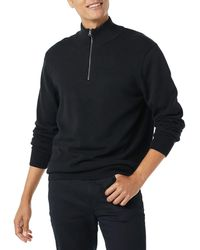 Amazon Essentials 100% Cotton Quarter-zip Jumper - Black