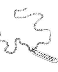 DIESEL Collana da uomo con ciondolo in acciaio inossidabile DX1228040 - Metallizzato