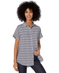Goodthreads - Washed Cotton Short-sleeve Shirt Navy/white Double Bar Stripe - Lyst