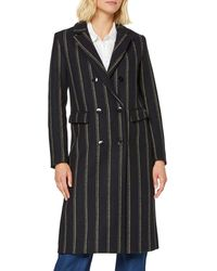 Scotch & Soda Maison Long Double Breasted Tailored Wool Coat Jacke - Schwarz