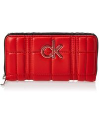 Calvin Klein Re-lock Lrg Ziparound Q Umhängetasche - Rot