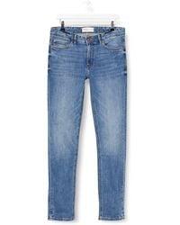Springfield Jeans Skinny Medio Claro-c/14 Pantalones - Azul