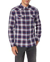 Wrangler LS Western Shirt Camicia - Blu