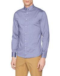 Celio* Napinpoint Camicia - Blu