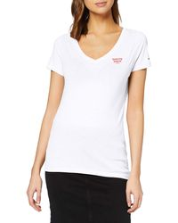 Tommy Hilfiger - Tjw Logo V-neck Tee T-shirt - Lyst