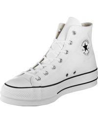 No complicado Joya lazo  Converse Chuck Taylor Ctas Lift Hi Low-top Sneakers in Black - Lyst