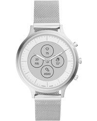 Fossil Smartwatch ibrido da charter da donna FTW7030 HR con display di lettura sempre attivo - Metallizzato