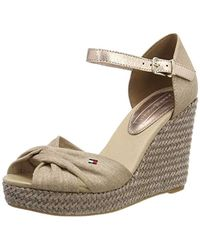 Tommy Hilfiger - Iconic Elena Metallic Canvas, Sandales Plateforme Femme - Lyst