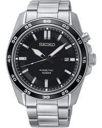 Seiko Orologio Analogico Automatico Uomo con Cinturino in Acciaio Inox SKA785P1 - Metallizzato