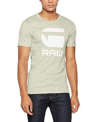 f87bd51e4a G-Star RAW Drillon T-shirt in Yellow for Men - Lyst