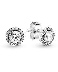 PANDORA Pendientes de botón Mujer plata - 296272CZ - Metálico