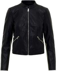 Vero Moda Vmkhloe Favo Faux Leather Jacket Noos Giacca Donna - Nero