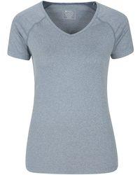 Mountain Warehouse Neck Tee - Breathable Ladies - Blue
