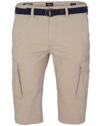 S.oliver Big Size Relaxed Fit: Bermuda im Cargo-Style beige 44 - Natur