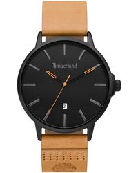 Timberland S Analogue Classic Quartz Watch With Leather Strap 15637jyb/02 - Black