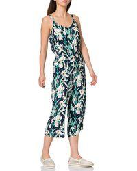 Vero Moda Vmsimply Easy Culotte Jumpsuit Wvn Ga - Green