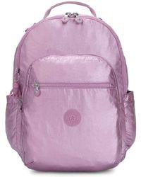 Kipling - Seoul Luggage Metallic Berry - Lyst