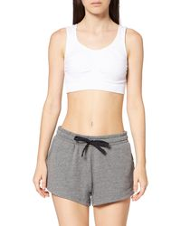 AURIQUE Amazon Brand - Women's Gym Shorts, Gray (grey Marl), 16, Label:xl