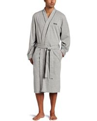BOSS - Cotton Kimono Robe - Lyst