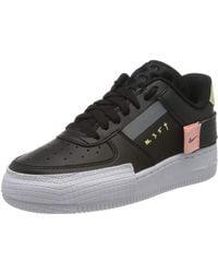 Nike Air Force 1 Type Basketball Shoe - Black