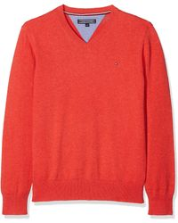 Tommy Hilfiger Ame Tommy Vn Sweater suéter - Rojo