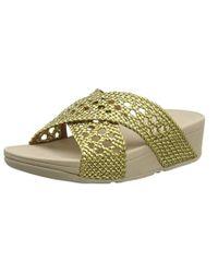 Fitflop - Twine Lulu Slide Open Toe Sandals - Lyst