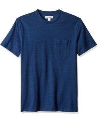 Goodthreads Short-sleeve Indigo Crewneck Pocket - Blue