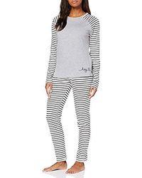 Esprit Elske Cas Nw Pj.s.ls_ll Zweiteiliger Schlafanzug - Grau