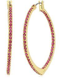 Vera Bradley - S Sparkling Small Hoop Earrings - Lyst