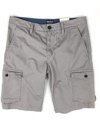 "Timberland Tarleton Lake 11"" Inseam Twill Cargo Shorts - Grey"