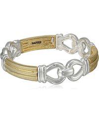 "Napier ""gold Rush"" Two-tone Link Stretch Bracelet - Metallic"
