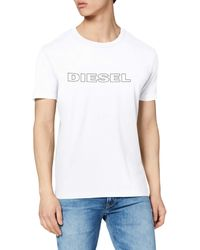 DIESEL Umlt-jake T-shirt - Bianco
