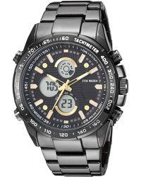 Steve Madden Fashion Watch Smw120g-bk - Black
