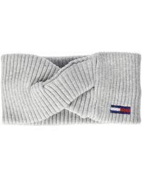Tommy Hilfiger Tjw Basic Flag Rib Headband Chepeau - Gris
