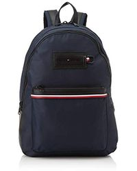 Tommy Hilfiger Modern Nylon Backpack Schultertasche, 12.5x46x31.5 Centimeters - Blau