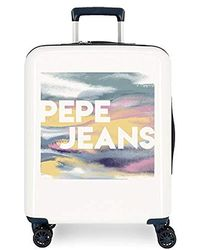 Pepe Jeans Maleta Mediana rígida 70cm Eevie - Blanco
