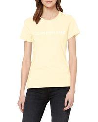 Calvin Klein Institutional Logo Slim Fit tee Camiseta - Amarillo