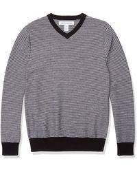 Amazon Essentials Maglione con Scollo a V. Sweaters - Grigio