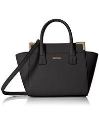 CALVIN KLEIN 205W39NYC Mini Saffiano Leather Crossbody - Black