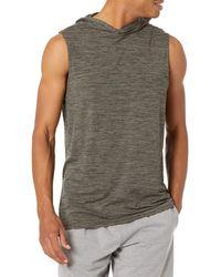 Amazon Essentials Tech Stretch Sleeveless Hoodie Athletic-Sweatshirts - Vert
