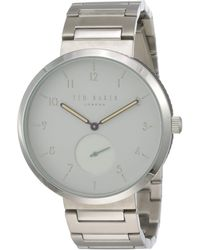 Ted Baker Analog Quartz Watch With Stainless-steel Strap Te50011010 - Metallic