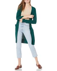Amazon Essentials Pull-Over léger et Plus Long. Cardigan - Vert