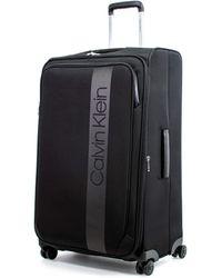 """Calvin Klein Park Lane 28"""" Expandable Softside Spinner Luggage, Black"""