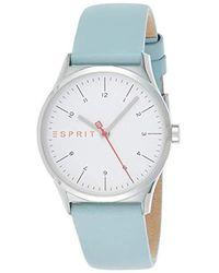 Esprit S Analogue Quartz Watch With Leather Strap Es1l034l0015 - Metallic