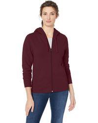Amazon Essentials Sweat-shirt à capuche en polaire et tissu-éponge - Rouge