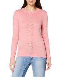 Dorothy Perkins Dark Rose Plain Pointelle Jumper Pullover Jumper - Pink