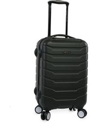 Perry Ellis Traction Hardside Spinner Carry On Luggage - Black