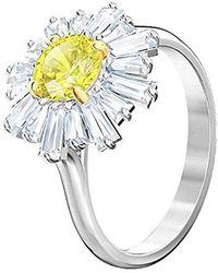 Swarovski Fingerring »Sunshine, gelb, rhodiniert, 5482713, 5482709, 5472481, 5482701« mit ® Kristallen