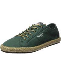 Pepe Jeans Tourist Island Espadrille Wedge Sandal - Green