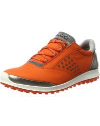 Ecco Golf Biom HYBRID 2 Golfschuhe - Orange
